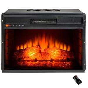 AKDY 34 inch Freestanding Electric Fireplace Insert Heater in Black with Flat... by AKDY