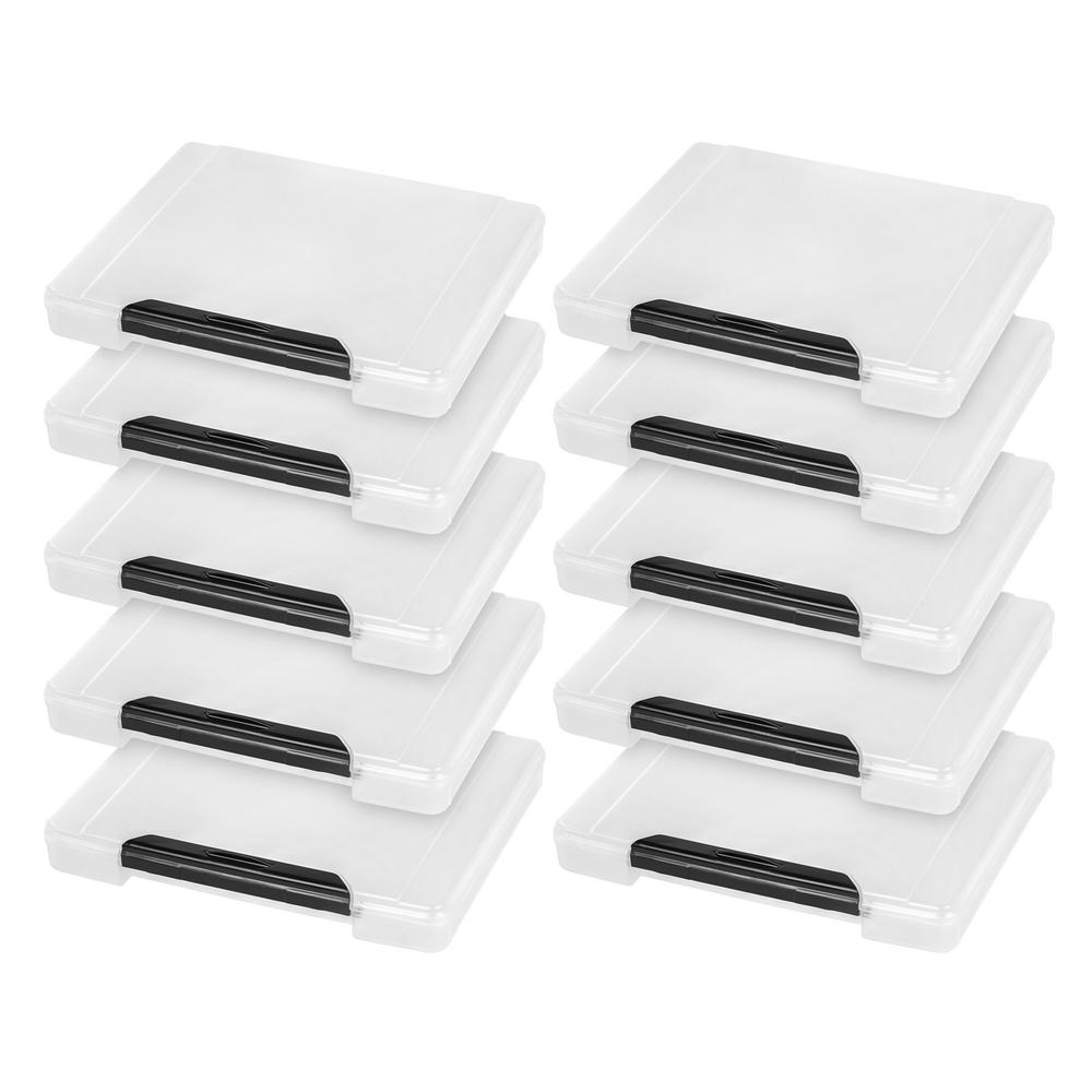 Iris Portable Project Storage Case In Clear 10 Pack 586420 The