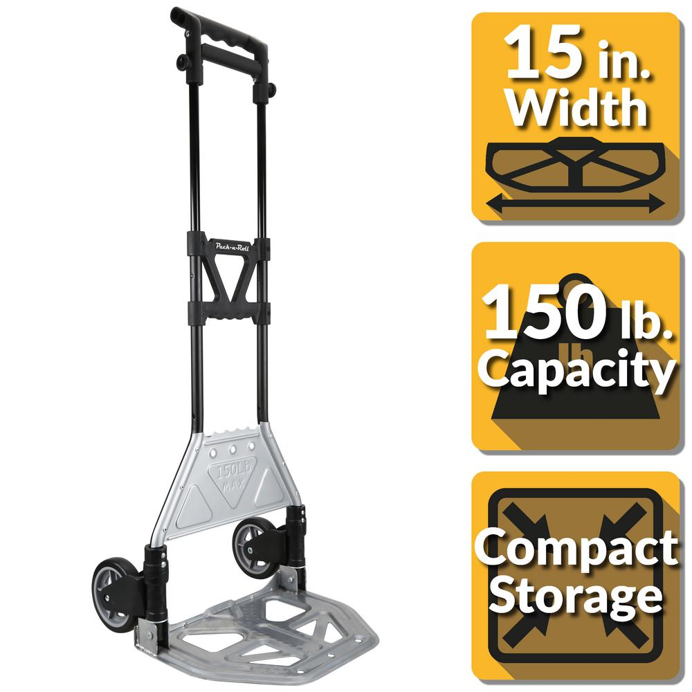 Pack-N-Roll 150 lb. Heavy Duty Folding Hand Truck with Load Support