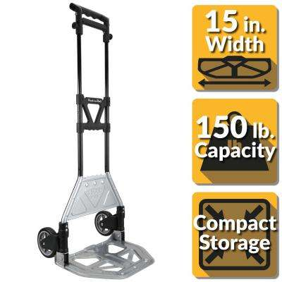 Pack-N-Roll 150 lb. Heavy Duty Folding Hand Truck with Load Support and Steel Toe Plate