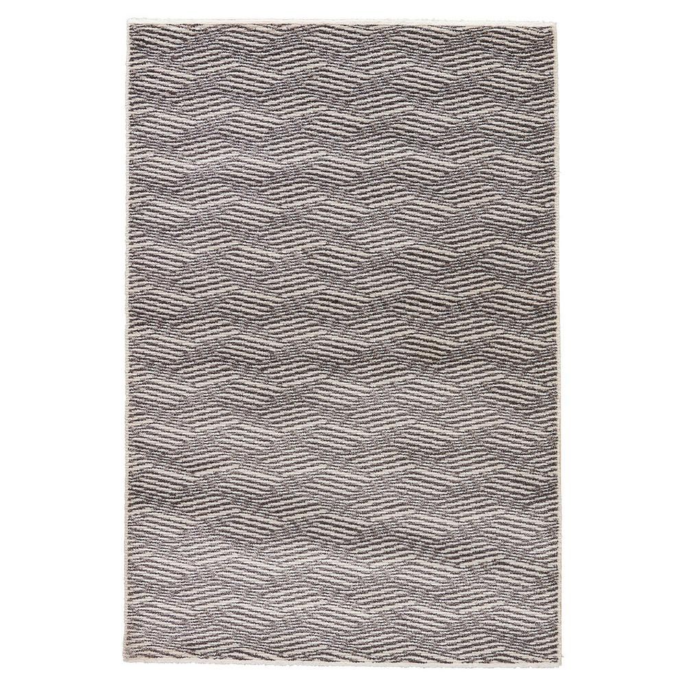 Jaipur rugs charcoal gray 7 ft x 10 ft geometric area for Geometric print area rugs