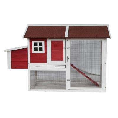 Multi-Level Wood Chicken Coop