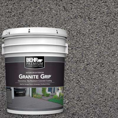 5 gal  Gray Granite Grip Decorative Flat Interior/Exterior Concrete Floor  Coating