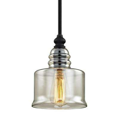 Franklin 1-Light Forged Black Pendant