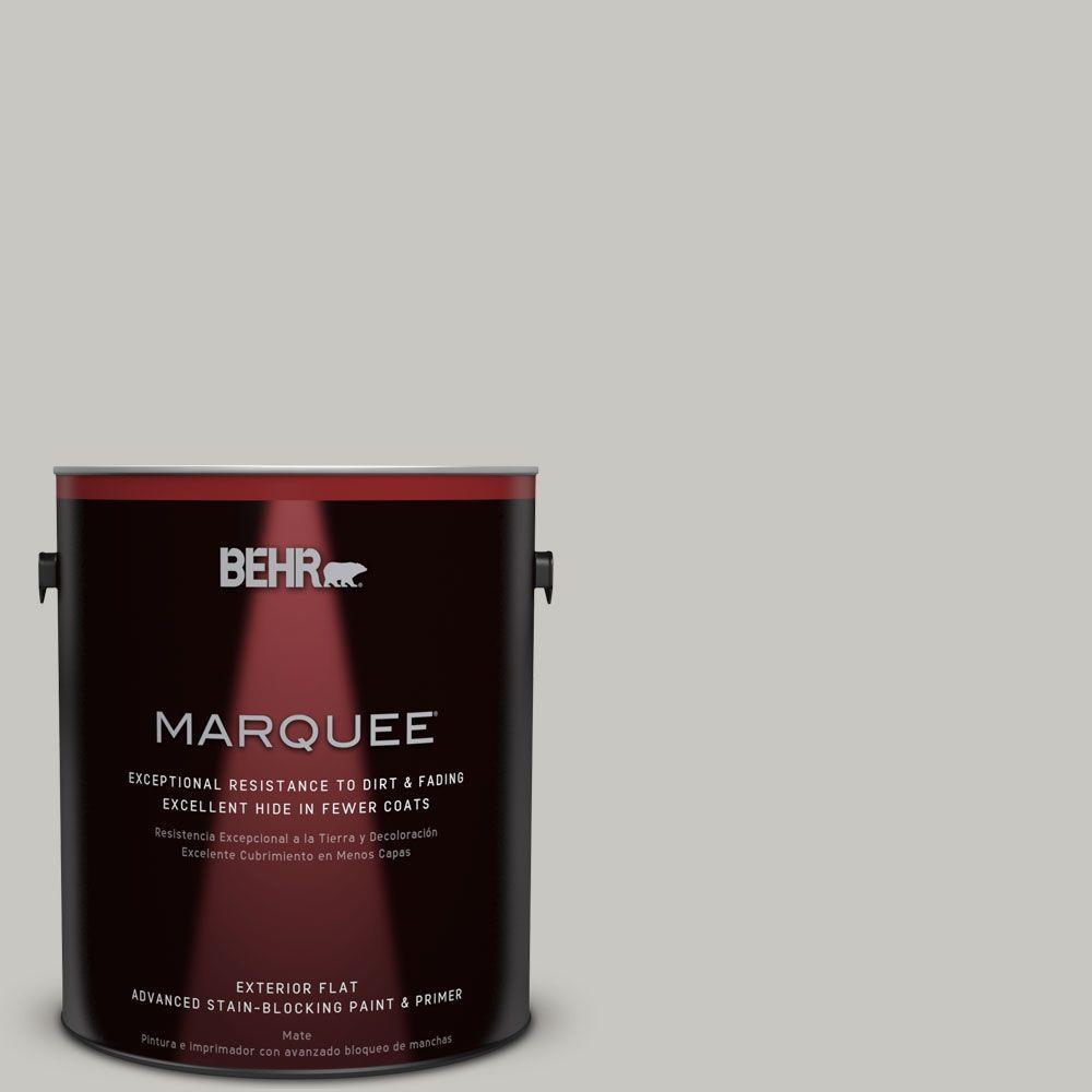 1-gal. #N360-2 Silver Marlin Flat Exterior Paint