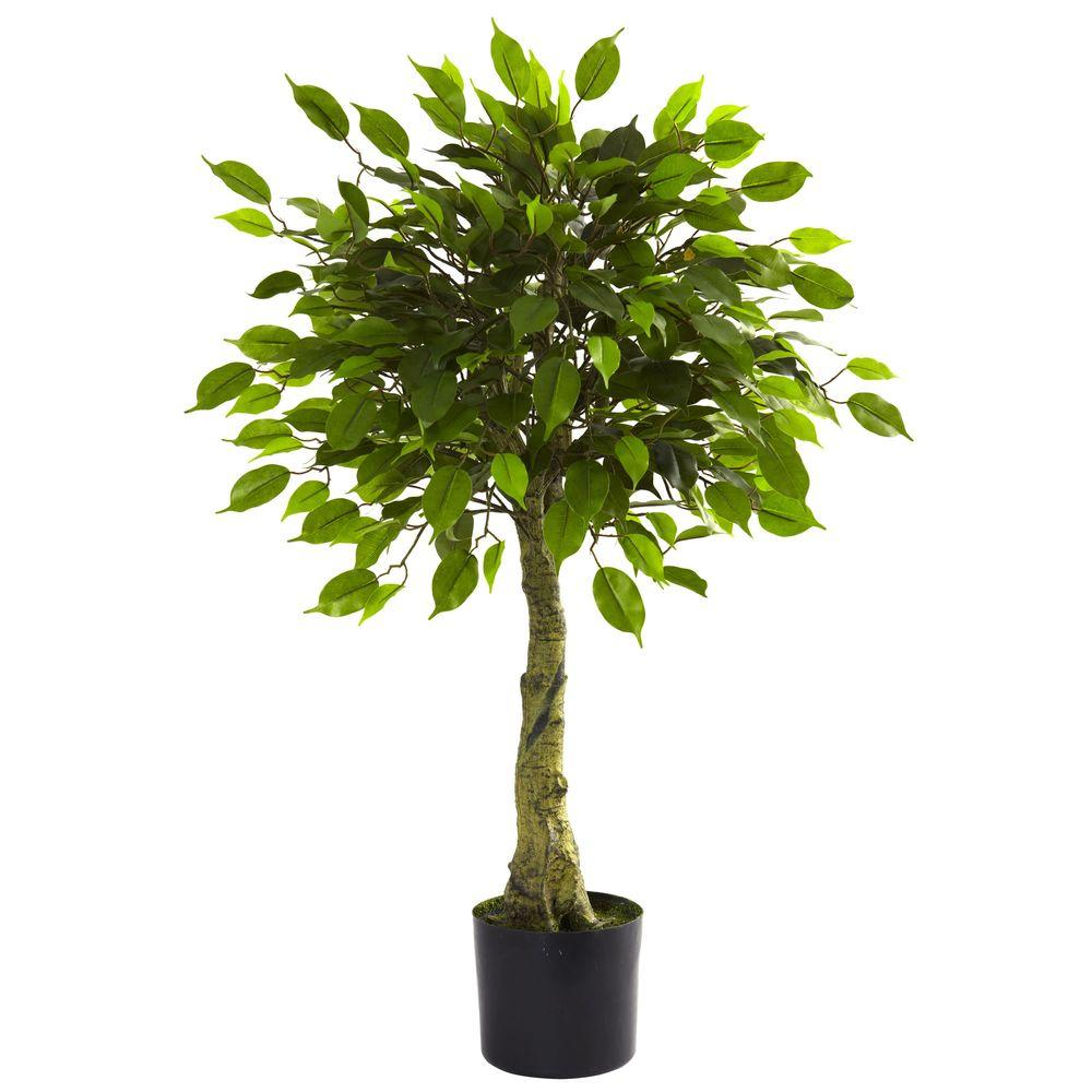Nearly Natural 3 Ft Uv Resistant Indoor Outdoor Ficus