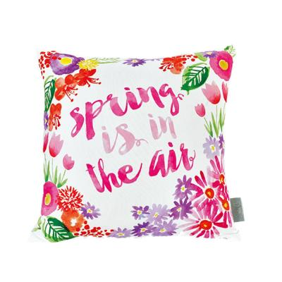 Sara B. Spring Is in The Air Multicolored Floral Polyester 20 in. x 20 in. Throw Pillow