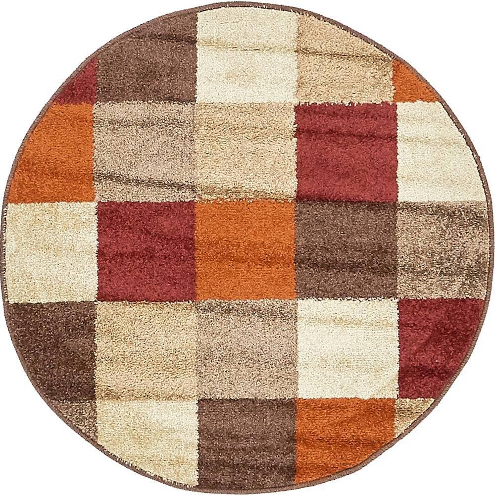 Autumn Patchwork Multi 3' 3 x 3' 3 Round Rug