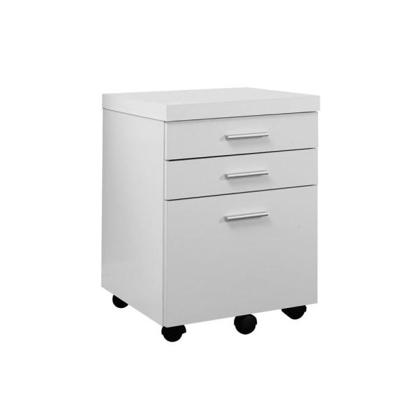 Jasmine 1-Piece White and Black Filing Cabinet