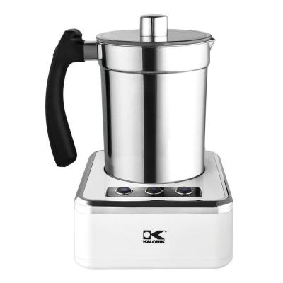 13.5 oz. White Stainless Steel Electric Milk Frother