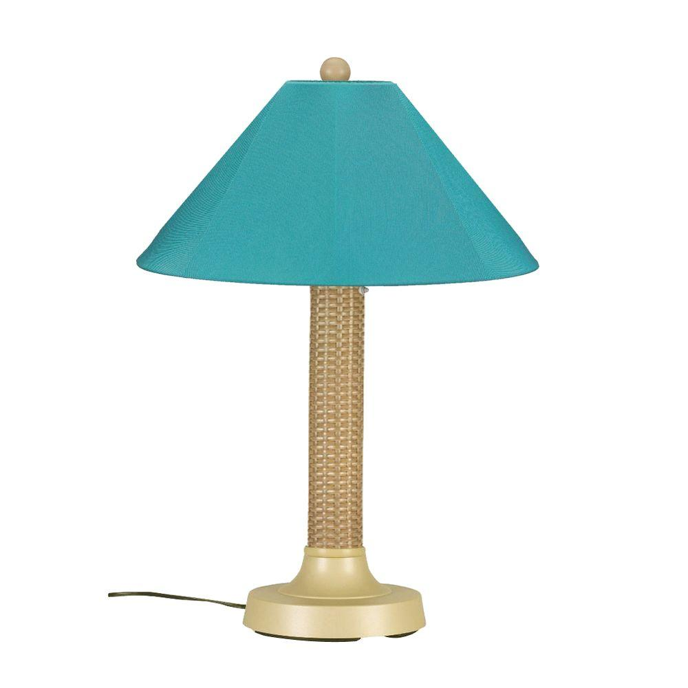Bahama Weave 34 in. Mojavi Outdoor Table Lamp with Aruba Shade