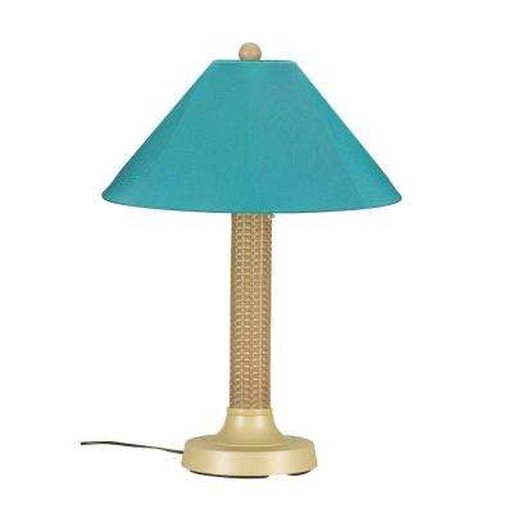Bahama Weave 34 in. Mojavi Outdoor Table Lamp with Aruba Shade