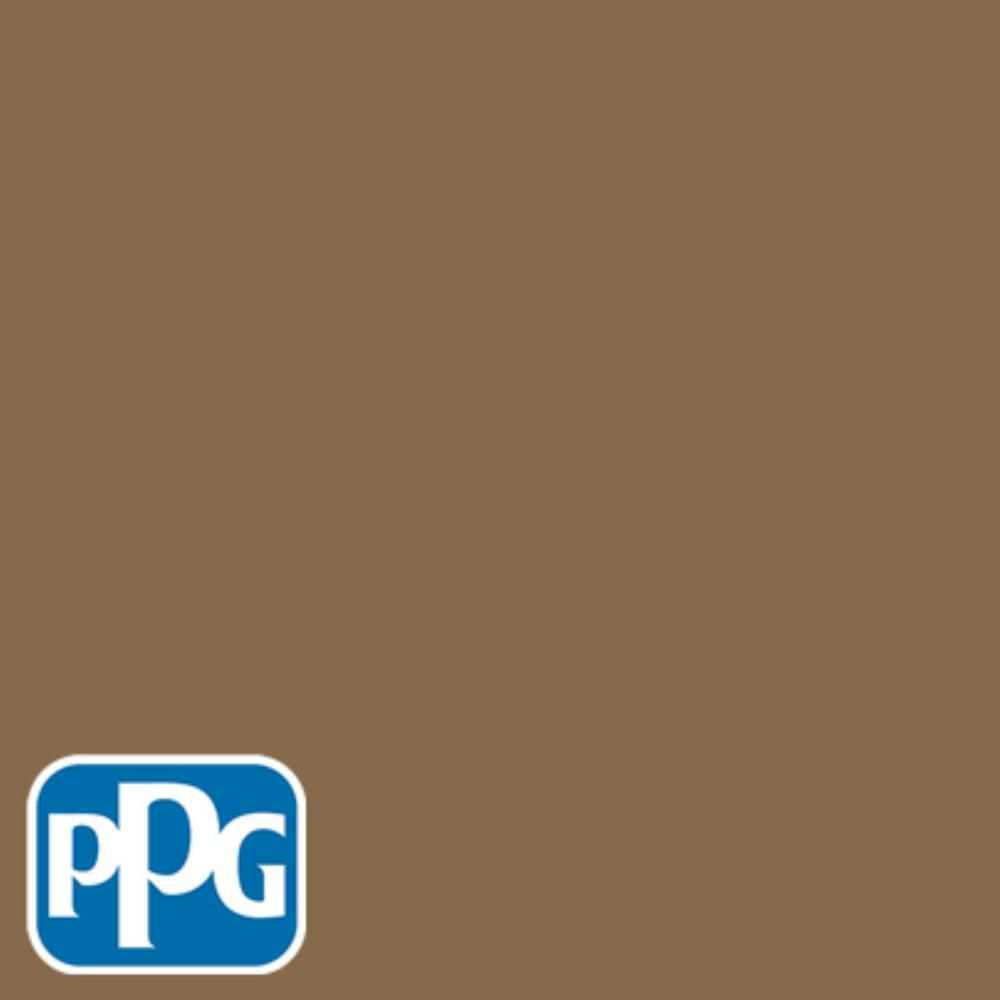PPG TIMELESS 8 oz. #HDPPGY13U Canvasback Brown Flat Interior/Exterior Paint Sample