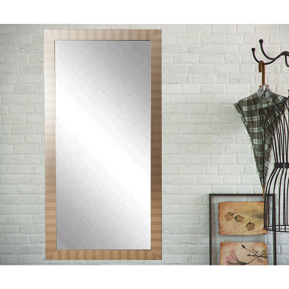 Modern Manhattan Floor Framed Mirror