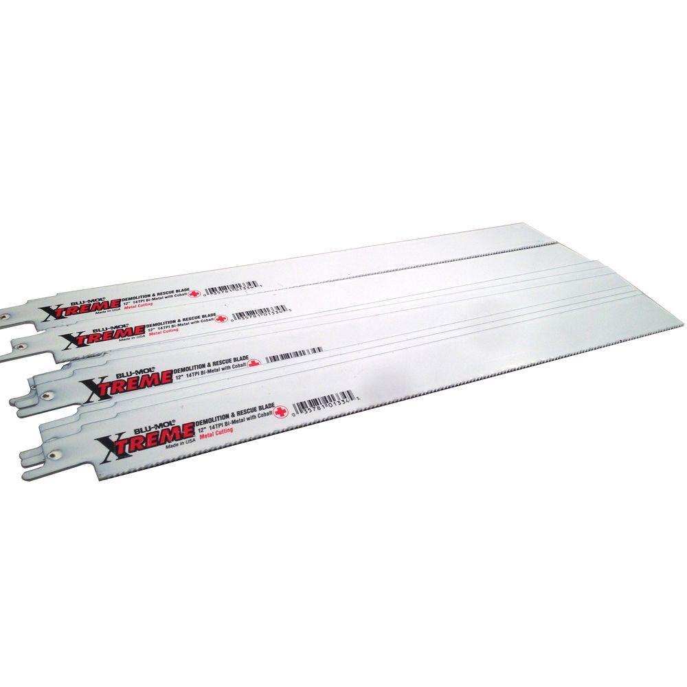 12 in. 14 Teeth per in. Metal Cutting Xtreme Bi-Metal Demolition Reciprocating Saw Blade (10-Pack)