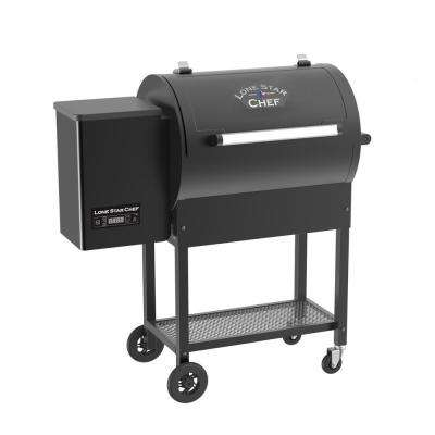 Pellet Grill and Smoker with Dual Meat Probes PID Digital Control and Extended 760 sq. in. Cooking Surface in Black