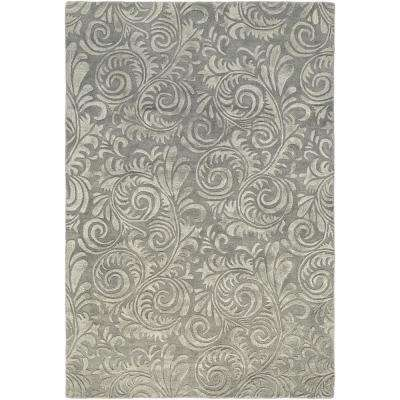Boudicca Medium Gray 2 ft. x 3 ft. Area Rug