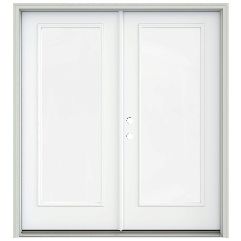 Jeld wen 72 in x 80 in white painted steel right hand for French inswing patio door screen