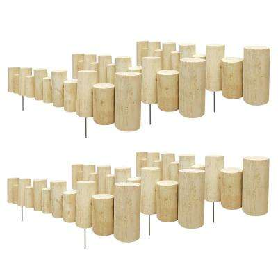 3 ft. L x 3 in. W x 5 in. to 7 in. H Pressure Treated Wood Staggered Full Log Edging (6-Pack)