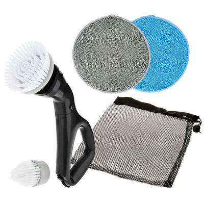 Multi-Purpose Compact Power Scrub Brush in Black