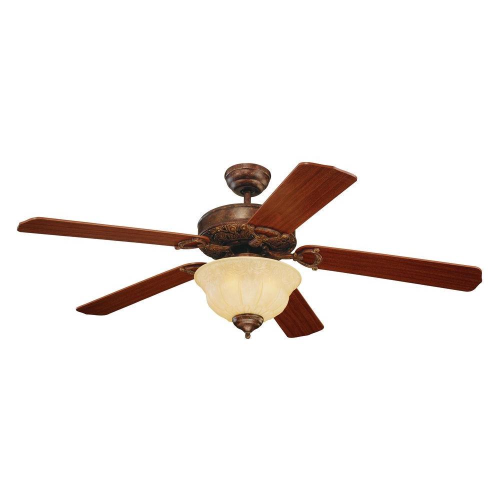 Indoor Tuscan Bronze Ceiling Fan