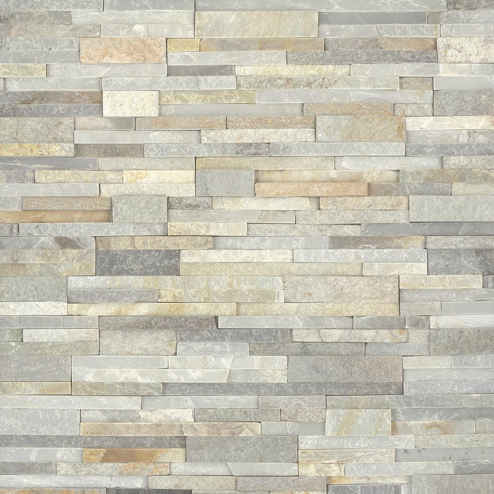 MSI Golden Honey Ledger Panel 6 in. x 24 in. Natural Quartzite Wall Tile (10 cases/80 sq. ft./pallet)