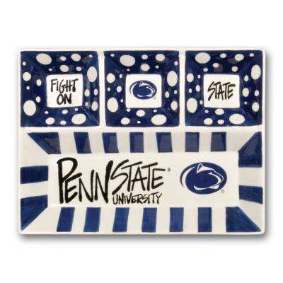 Penn State Ceramic 4 Section Tailgating Serving Platter