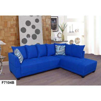 Blue L Shaped sofa
