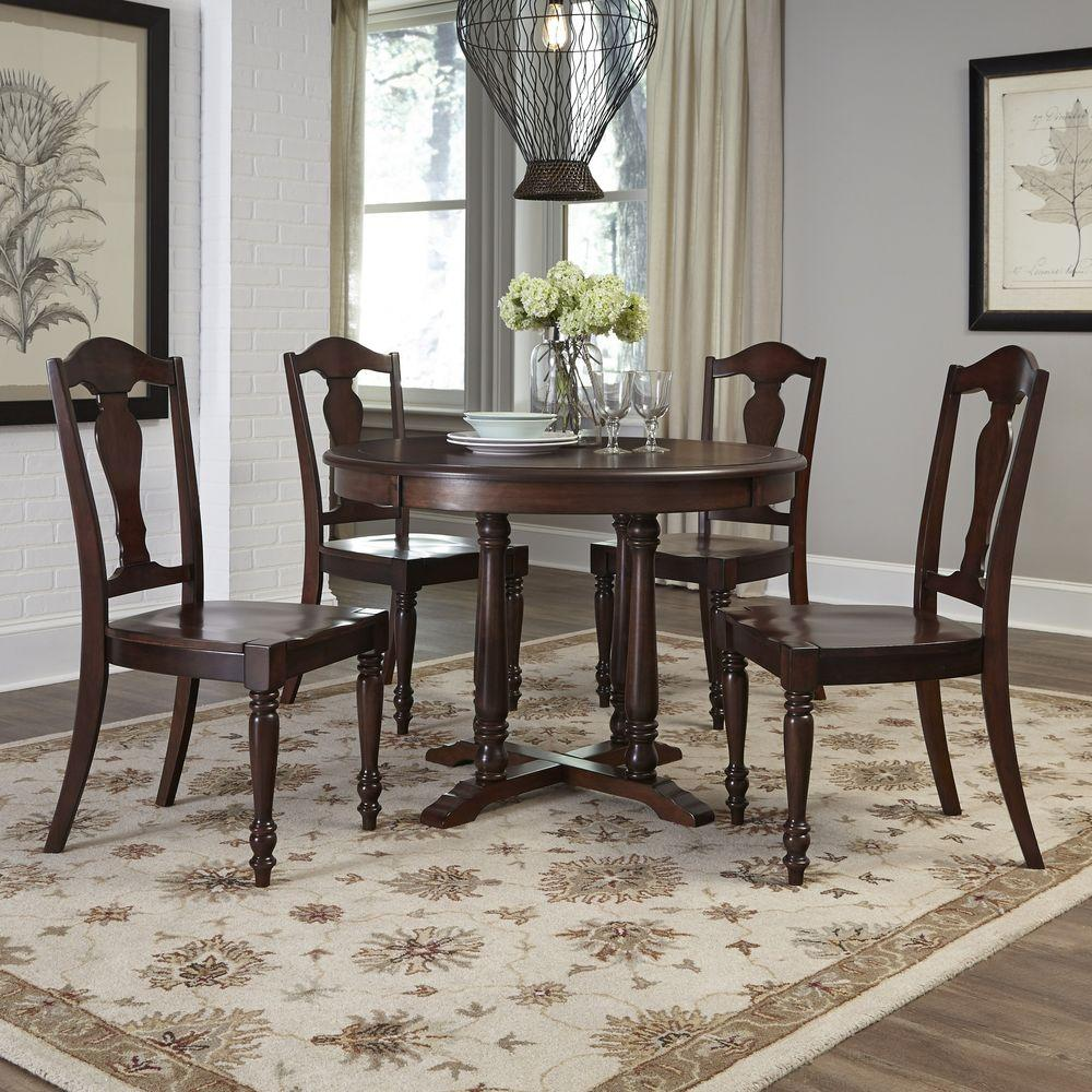 Home Styles Classic 5 Piece White Wash Dining Set 5170  : aged bourbon home styles dining room sets 5522 308 641000 from www.homedepot.com size 1000 x 1000 jpeg 173kB