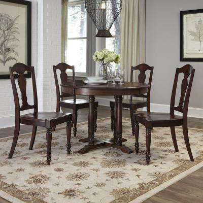 Country Comfort 5-Piece Aged Bourbon Dining Set