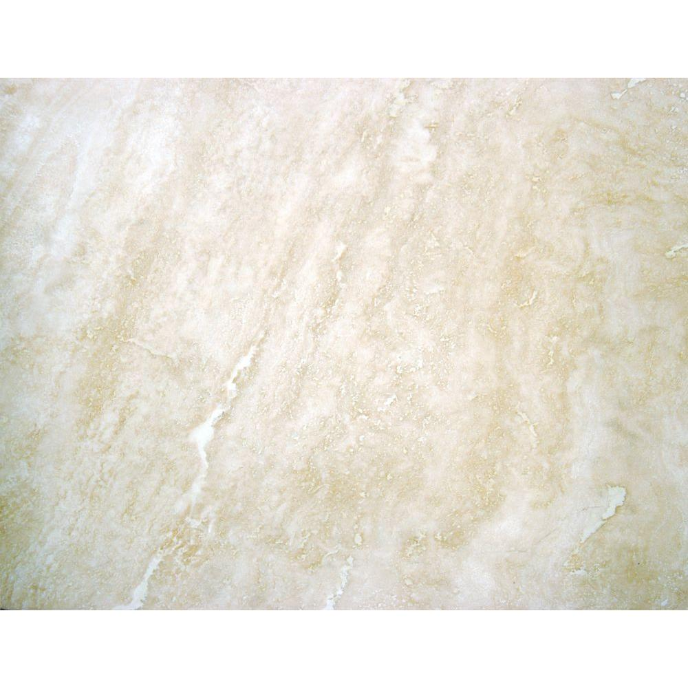 Beige 16 in. x 24 in. Honed Travertine Floor and Wall