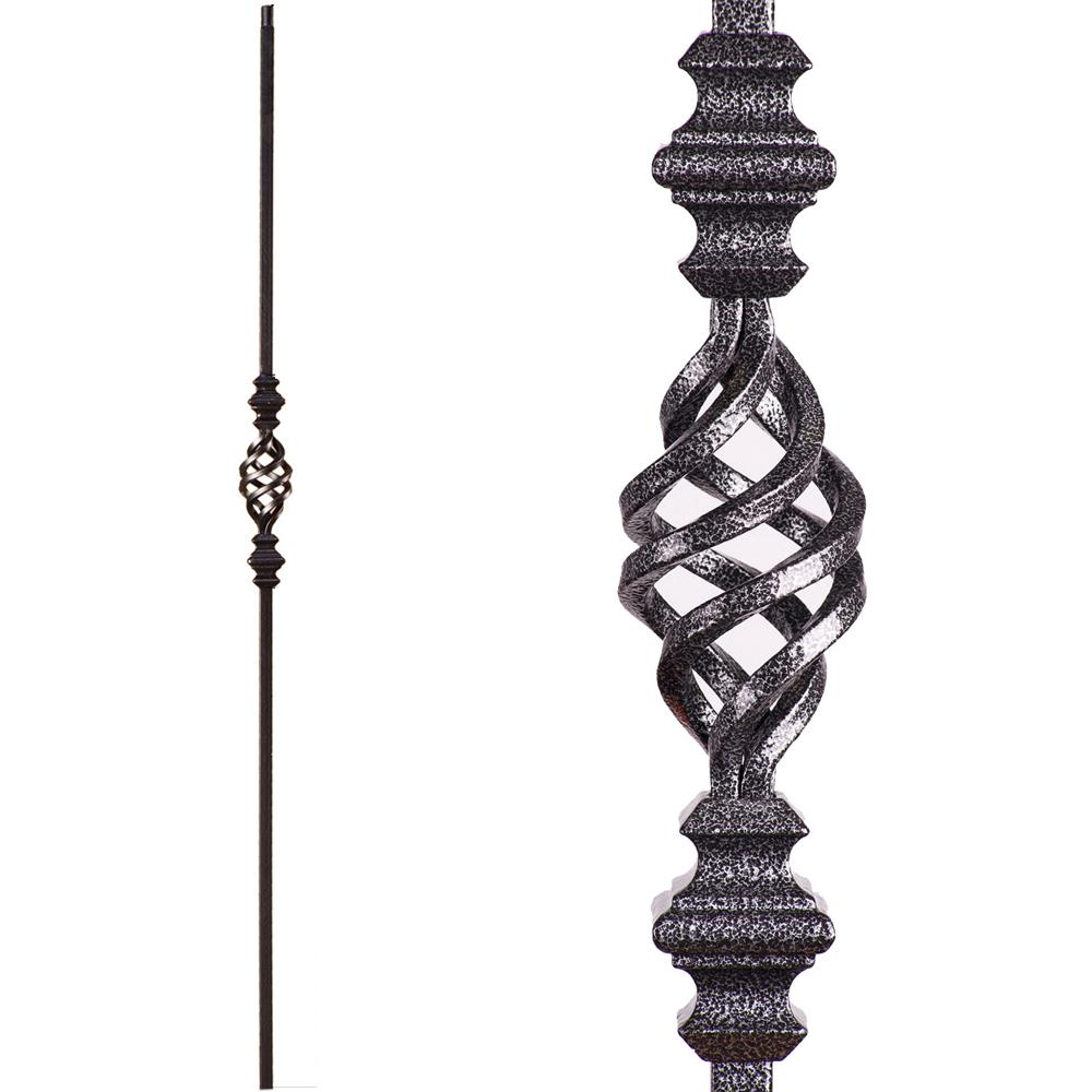 house of forgings versatile 44 in  x 0 5 in  silver vein single basket solid wrought iron