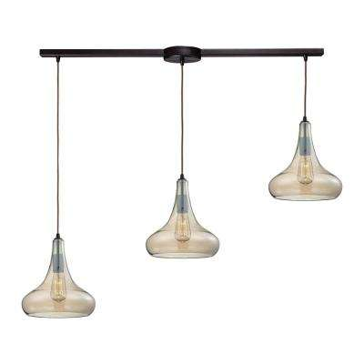 Orbital 3-Light Oil Rubbed Bronze Pendant