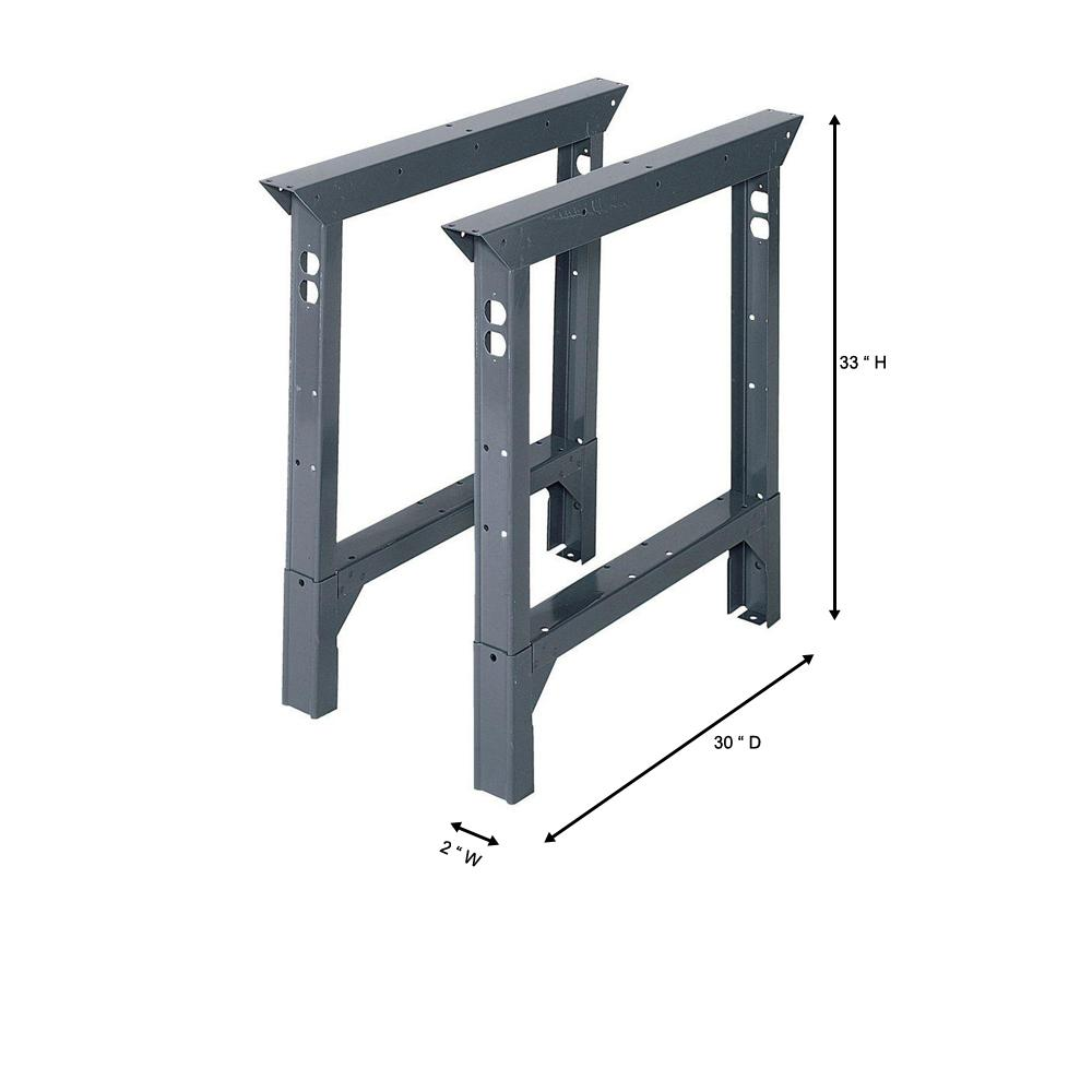 Adjustable Height Leg For 30 Bench Black 29 to 35