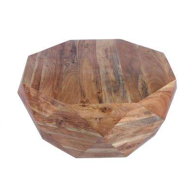 Natural Brown Diamond Shape Wood Coffee Table with Smooth Top