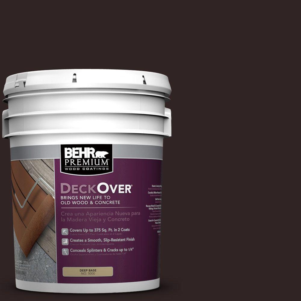 BEHR Premium DeckOver 5 gal. #SC-104 Cordovan Brown Wood and Concrete Coating
