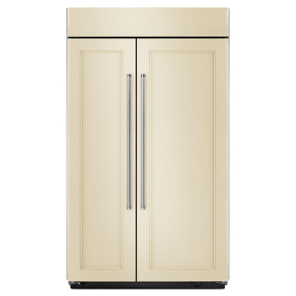 42 in. W 25.5 cu. ft. Built-In Side by Side Refrigerator in Panel Ready