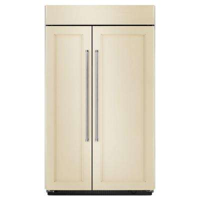 48 in. W 30 cu. ft. Built-In Side by Side Refrigerator in Panel Ready