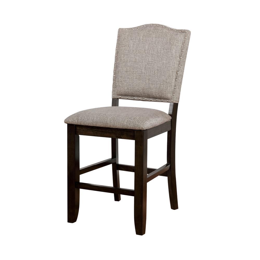 Teagan Dark Walnut Transitional Style Counter Height Chair