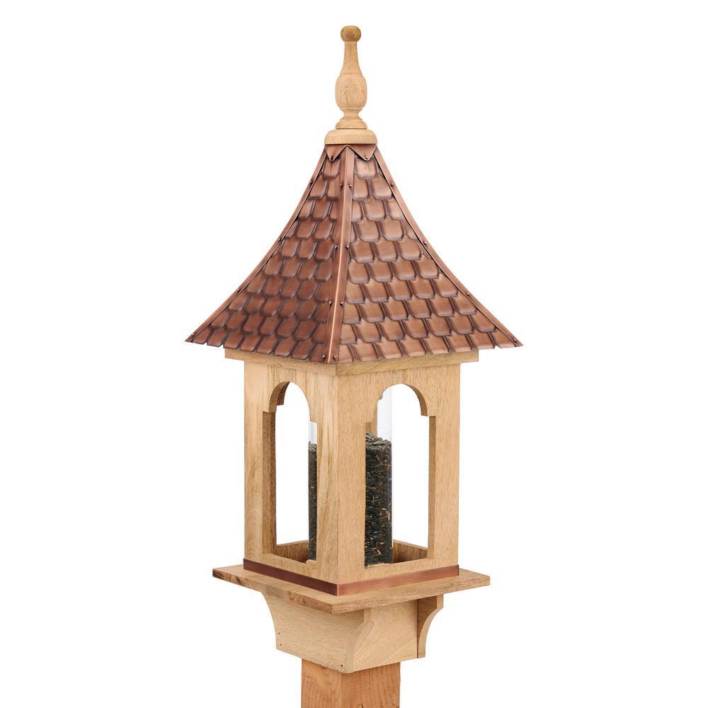 Copper Shingled Roof Bird Feeder