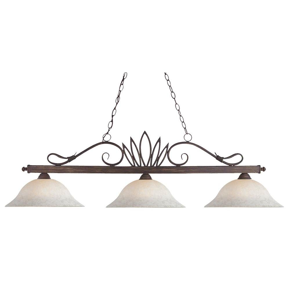 Filament Design Lawrence 3-Light Weathered Bronze Incandescent Ceiling Island Pendant