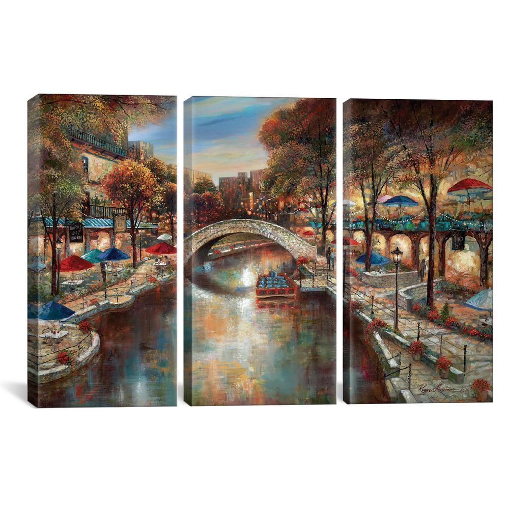 Poster Home Decor Wall Art Orange Arched Bridge Of Art//Canvas Print C