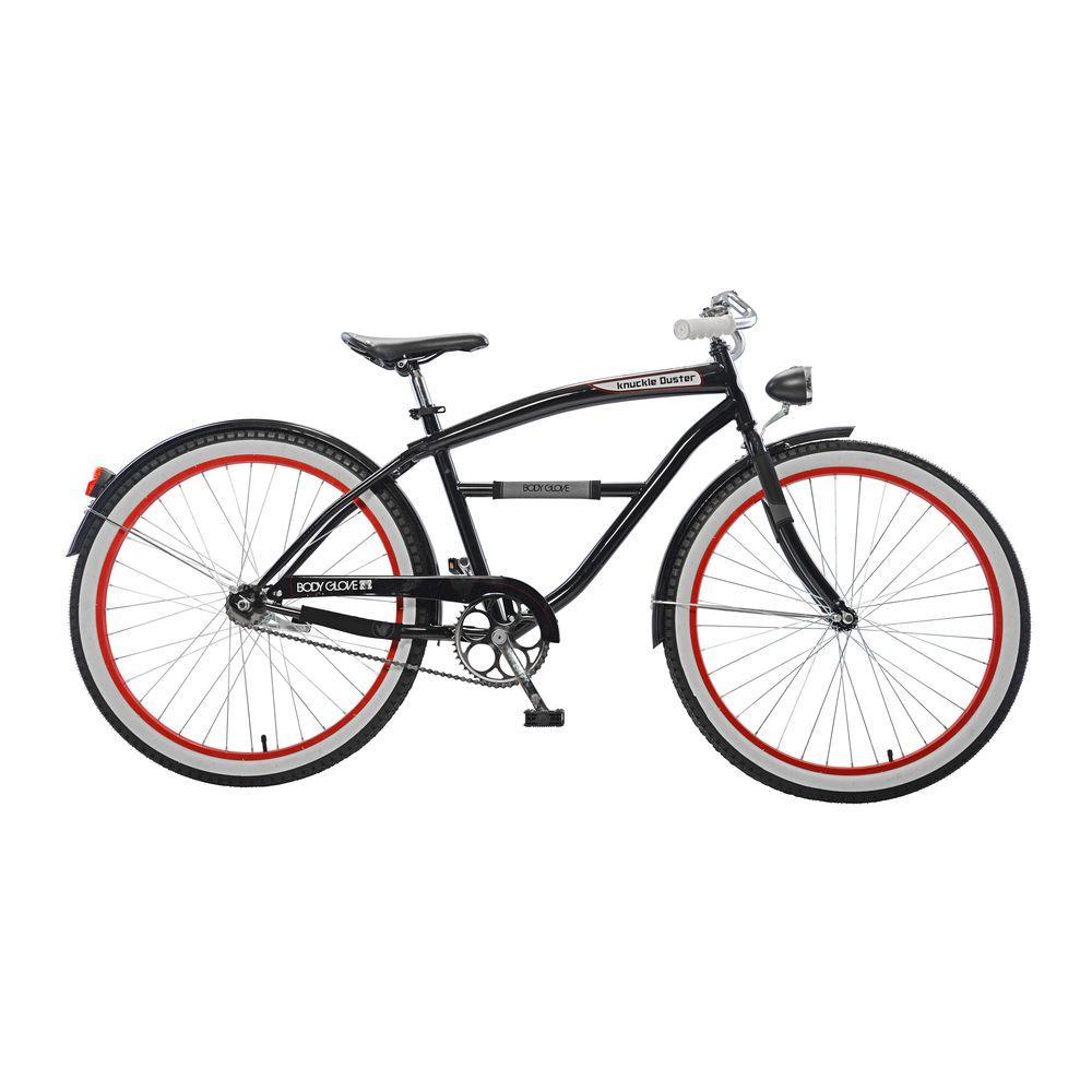 Knuckle Duster Cruiser 26 in. Wheels Oversized Frame Men's Bike in Black