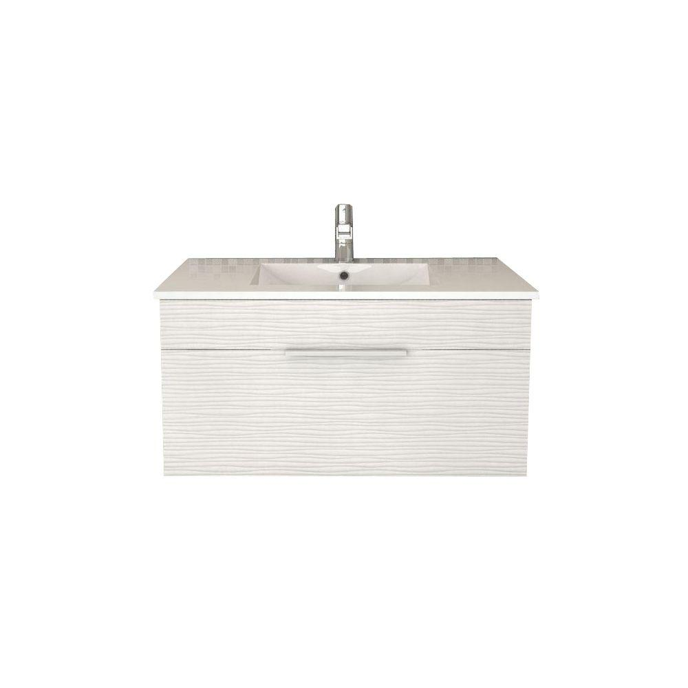 Astounding Cutler Kitchen And Bath Textures Collection 36 In W X 18 In D X 19 In H Vanity In Contour White With Acrylic Vanity Top In White With Basin Interior Design Ideas Inesswwsoteloinfo
