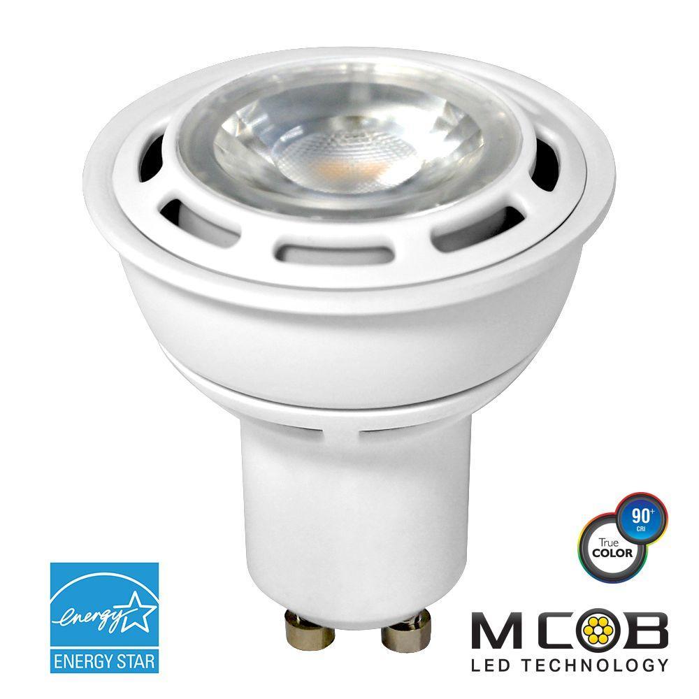 50W Equivalent Soft White (3,000K) PAR16 Dimmable MCOB LED Flood Light Bulb