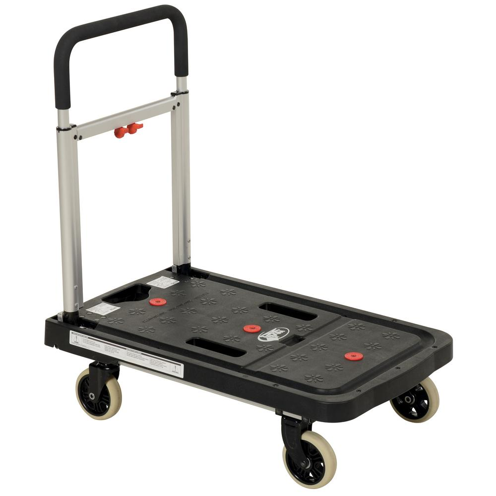 26.75 in. x 16.25 in. Fold Flat Plastic Cart