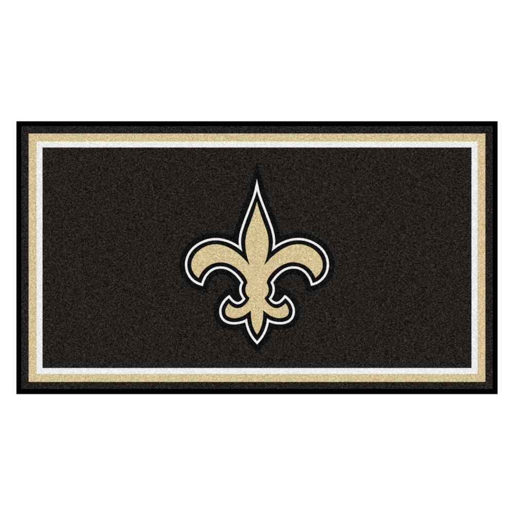 2b06ce12 FANMATS NFL - New Orleans Saints 3 ft. x 5 ft. Ultra Plush Area Rug