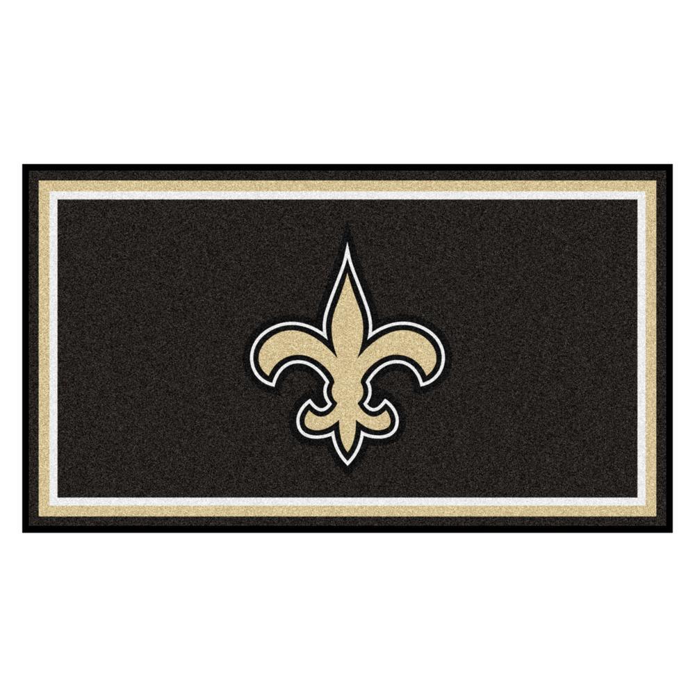 NFL - New Orleans Saints 3 ft. x 5 ft. Ultra Plush Area Rug