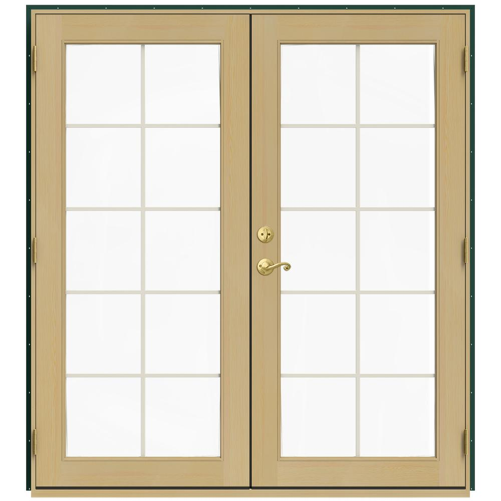 72 in. x 80 in. W-2500 Green Clad Wood Left-Hand 10