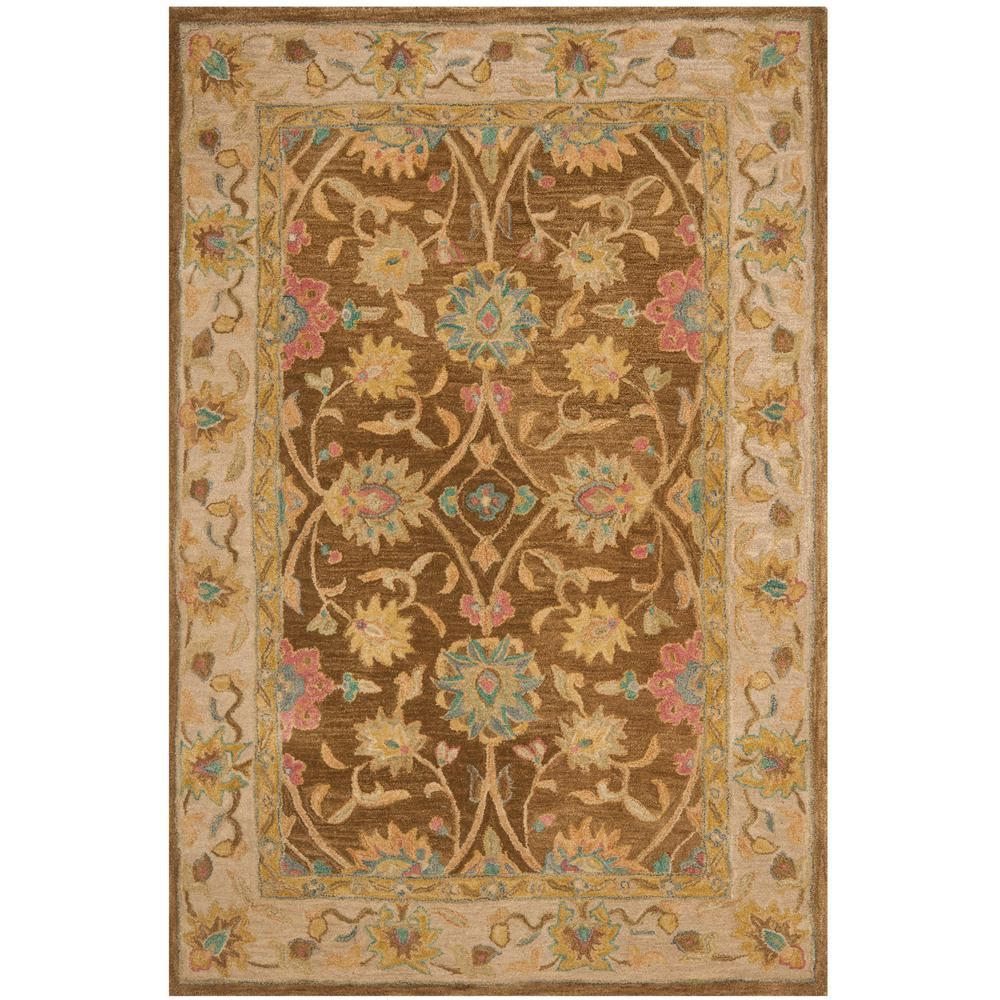 Safavieh Anatolia Brown Ivory 4 Ft X 6 Ft Area Rug